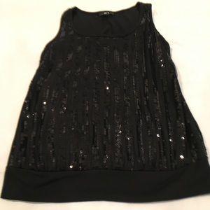 BCX black sequin sleeveless top